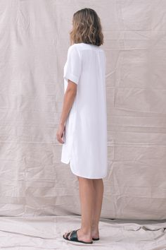 TGB EcoFashion Shop at http://the-great-beyond.com/product/white-bianca-dress/ | Free Shipping Bamboo Clothing