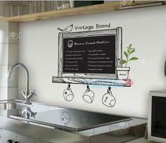 Lavagna adesiva da cucina lavagnetta wall stickers The Best Cook ...
