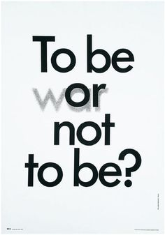 To be (war) or not to be? Wasilewski, Mieczyslaw (1942- )