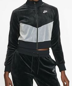 Details about Nike women's velour track jacket AQ7977 618