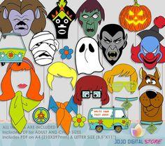 Editable Scooby Doo Halloween Photo Booth by JoJoDigitalStore