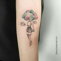 Tattoos are an integral part of society, with many people sporting one or more tattoos on their body, it is certain that these tattoos can be significant for many people and cultures from around th… Little Tattoos, Mini Tattoos, Trendy Tattoos, Love Tattoos, Unique Tattoos, Small Tattoos, Tattoos For Women, Tattoos For Guys, Cloud Tattoo