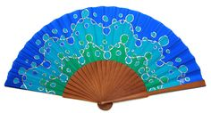 Hand Fans, Natural, Ideas, Painted Silk, Painted Fan, Watercolor Art, Artworks, Umbrellas, Hands