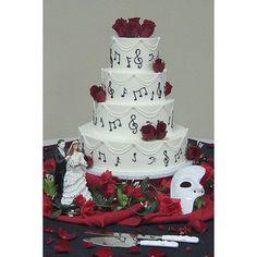 opera+decoration+cake   Phantom of the Opera Wedding Cake