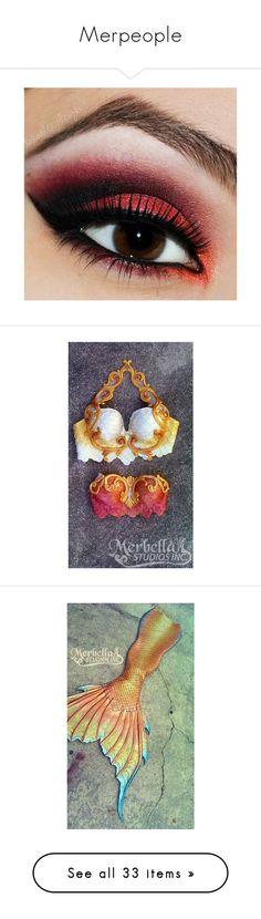 """Merpeople"" by aprill-dawn ❤ liked on Polyvore featuring Murdock London, beauty products, makeup, eye makeup, eyeshadow, eyes, beauty, mermaid, creature mermaid and mermaid tail"