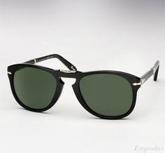 b00a85d86d5 Persol 714 SM sunglasses - Black w  Grey Green Polarized lenses Persol 714  Steve Mcqueen