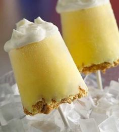 Recipe for Lemon Meringue Pie Pops - What could be better than a slice of pie? Pie pops! Our frozen take on lemon meringue pie has a graham cracker crust, creamy lemon filling and a fluffy topping. Basically it's your own little piece of heaven–on a stick!