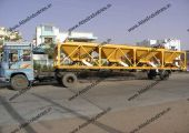 The second chassis of the portable asphalt plants consists of dryer drum along with wet dust collector type pollution control system