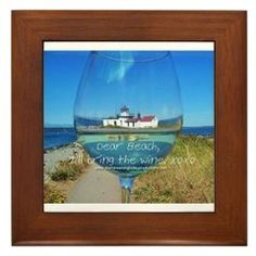 Love Notes To The Beach I'll Bring Framed Tile