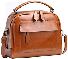 Heshe Leather Handbags Designer Fashion Shoulder Bags Tote Bag Cross Body Handbag and Purse for Womens and Ladies (Brown) -- This is an Amazon Associate's Pin. Click the image to visit the Amazon website.