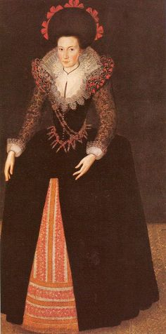 1620 Lady Bridget Croke by Marcus Gheeraerts the Younger (Flemish English painter, 1562–1635)