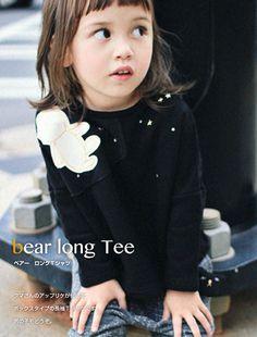 Annika (アニカ) bear long tee | 韓国子供服とオリジナルリバティ雑貨 オルキデスール|orchidees soeurs