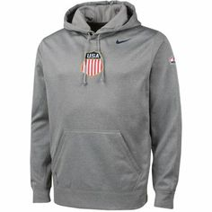 Nike Team USA Hockey Winter Olympics KO Pullover Performance Hoodie - Ash