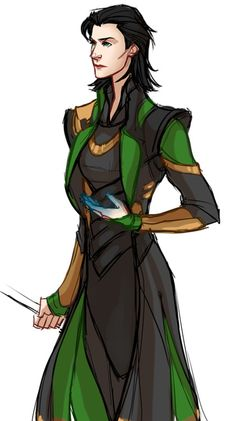 A quick female Loki since she wasn't invited to the Avengers party!  p.s. yes I know there is an actual Lady Loki! this isn't meant to be the Sif version, just a genderbend of the movie version.