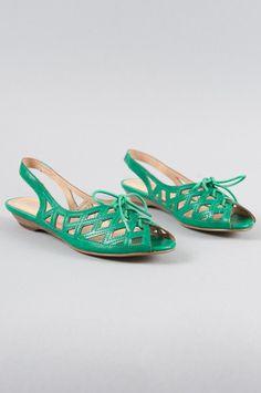 Melissa Slingbacks in Emerald