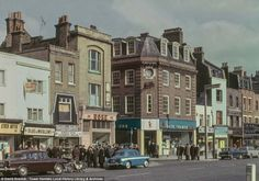 Whitechapel Road, 1965 Photography by David Granick, courtesy of the Tower Hamlets Local History Library & Archives where the pictures can be seen until 5 May Old London, East End London, Vintage London, London Pubs, London Docklands, London Pictures, London Photos, London Life, London Street