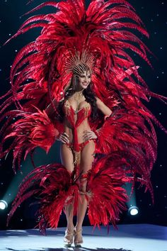 Trinidad Headdress | Nick Verreos: Pageant Minute: Miss Universe 2011 National Costumes ...  A large collection of photos of beautiful girls on the beach, in the car, in the countryside. Look more... #beautifulgirls #girlnicebody