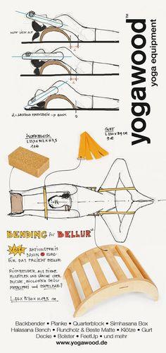 estiramientos  stretching  yoga  Yogawood Flyer by FNYOGI - recto #backbender #yogaprops