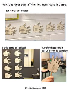 """French sight words! Students LOVE reading the """"hands"""" on the wall and working with these in literacy centers, etc."""