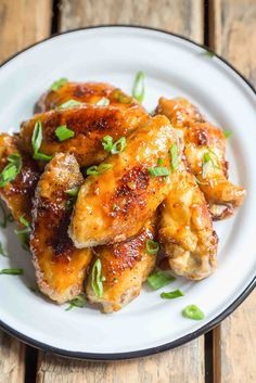 Miso Glazed Chicken Wings ~ Quick and easy miso glazed chicken wings, perfect for game day or a fun weeknight dinner! ~ SimplyRecipes.com