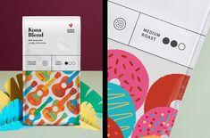 특징 그림은 커피 콩 패키지의 기원에 인쇄   MyDesy의 ADS 영감