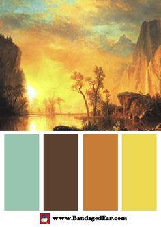 Albert Bierstadt Color Palette: Sunset In The Rockies - BandagedEar.com