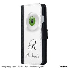 Case galaxy S and IPhone. monogram and Eye.