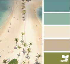 Beach kleur pallet Design-Seeds