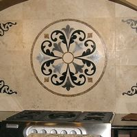 Verona Tile Floor Medallion Kitchen Backsplash