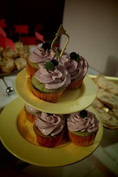 Cupcake pistachos y frutos rojos