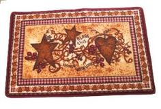 CoUnTrY Hearts & Stars Rug MAT noskid kitchen...