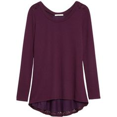 December 2015 Stitch Fix - Le Lis Woodburn Lace Back Knit Top - Kept - beautiful color and style, this will be perfect for holiday get-togethers
