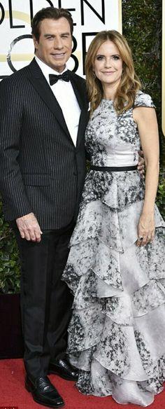 John Travolta & Kelly Preston 2017 John Travolta Kelly Preston, Celebrity Red Carpet, Formal, Couples, Celebrities, Style, Fashion, Preppy, Swag