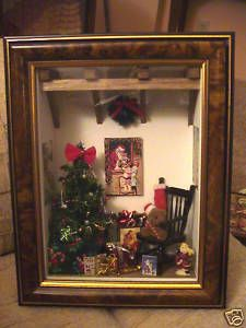 Christmas shadow box, great wall décor or even can be a nice gift