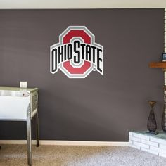 Put your passion on display with a giant Ohio State Buckeyes: Logo - Giant Officially Licensed Removable Wall Decal Fathead wall decal! Ohio State Stadium, Ohio State Rooms, Ohio State Decor, Ohio State Wreath, Ohio State Buckeyes, State University, Removable Wall Decals, Logo, Shop