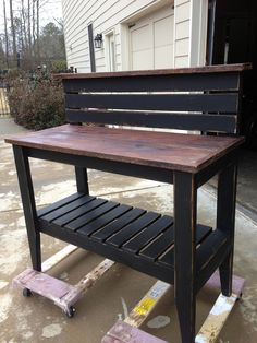 Potting bench/table.  Our client custom ordered this one to use as a coffee bar! $145.00