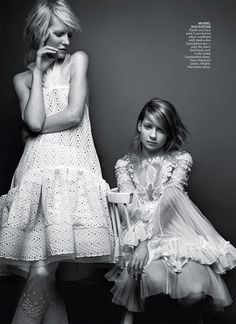 Mother Daughter Duo Kirsten & Billy Rose Owen By Andrew Soule For Flare May 2013 The CoolInheritance - 3 Sensual Fashion Editorials   Art Exhibits - Anne of Carversville Women's News