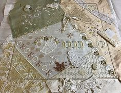 Planning the embellishment of another quilt block