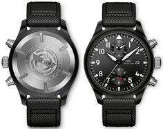 The new IWC Big Pilot's Watch Top Gun watches for SIHH 2016 with images, price, background, specs, & our expert analysis. Top Gun, Iwc Pilot Chronograph, Iwc Watches, Flavio, Electronic Items, Best Watches For Men, Dress For Success, Audemars Piguet, Bows