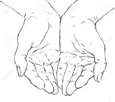 Open Hand Coloring Coloring Pages Outline Drawings, My Drawings, Hand Drawing Reference, Drawing Hands, Hand Outline, Namaste Art, Praying Hands Tattoo, Typography Drawing, Main Image