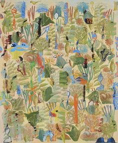 Available for sale from Leila Heller Gallery, Philip Taaffe, Nymphaeum Mixed media on canvas, 77 × 63 in Painting Videos, Mixed Media Canvas, American Artists, Textures Patterns, Look, Contemporary Art, Drawings, Illustration, Artwork
