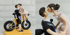 bicycle themed wedding cake topper