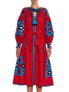 Mexico embroidered linen midi dress | Vita Kin | MATCHESFASHION.COM