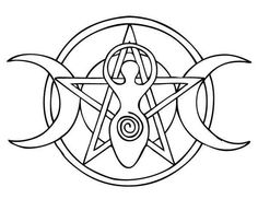 Pentacle Coloring Pages Sketch Coloring Page. Goddess Pentacle by Ancasta Esoteric Symbols, Wiccan Symbols, Wiccan Art, Viking Symbols, Egyptian Symbols, Viking Runes, Ancient Symbols, Colouring Pages, Adult Coloring Pages