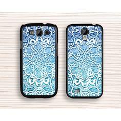 blue flower Samsung case,unique Galaxy S5 case,mandala Galaxy S4 case,flower Galaxy S3,blue flower samsung Note 3,samsung Note 2 case - Samsung Case