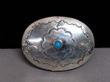 1970s Native American Navajo Made Sterling Silver Pillbox by Jeffrey Castillo
