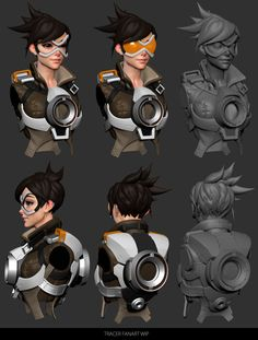 Tracer Fanart Wip by CezarBrandao on DeviantArt Zbrush, 3d Character, Character Design, Tracer Fanart, Tracer Cosplay, Character Turnaround, Game Textures, Overwatch Fan Art, Modelos 3d