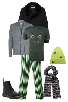 """m2"" by explorer-15046726465 on Polyvore featuring Walter Van Beirendonck, Yves Saint Laurent, Dr. Martens, Lanvin, Fendi, McQ by Alexander McQueen, Marc Jacobs, men's fashion и menswear"