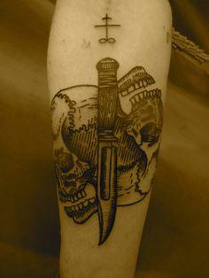 Skulls w/ Knife by Lyam