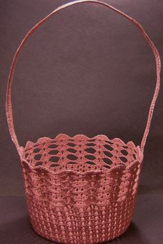 Pink Crochet Basket
